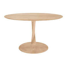 Ethnicraft Torsion Round Dining Table, Natural Oak