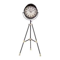 "Vintage Studio 19""D Clock on a Tripod"