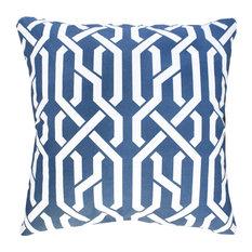 Saint Tropez Cotton Cushion Cover, Blue