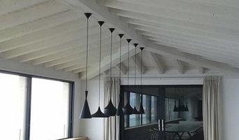 Aplicacion de pintura envejecida en vigas de madera