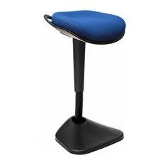 Modern Stylish Stool, Extra Padded Cushioned Seat, Dinamic Curved Design, Blue