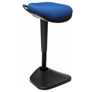 Modern Stylish Stool, Extra Padded Cushioned Seat, Dinamic Curved Design, Blue