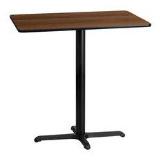 "Dyersburg 24""x42"" Rectangular Walnut Laminate Table Top With 42"" X-Base"