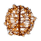 "15"" Fold Flat Christmas Sphere, 100 Clear Incandescent Lights"
