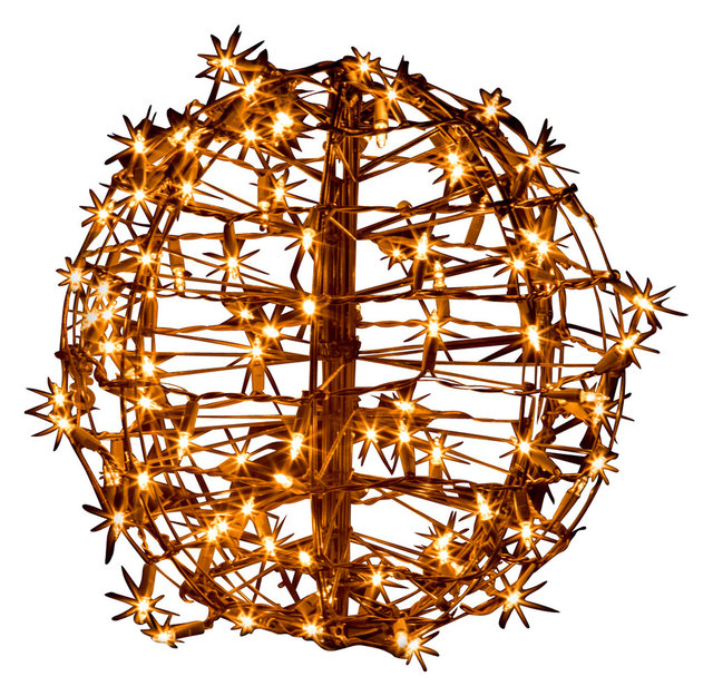 15 fold flat christmas sphere contemporary outdoor holiday 15 fold flat christmas sphere 100 clear incandescent lights mozeypictures Images