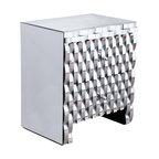 GDF Studio Isadora Mirrored 2-Drawer Nightstand Cabinet