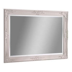 Florence Rectangular Wall Mirror, White, 74x104 cm