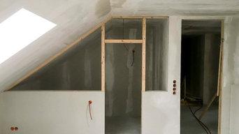 Bau einer Sauna nach Kundenwunsch.
