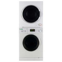Stackable Set of New Version Compact Front Load Washer and Short Dryer