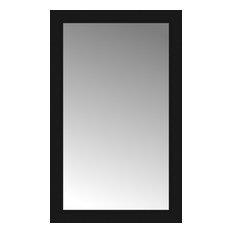 "22""x35"" Custom Framed Mirror, Smooth Black"