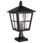 Elstead - Canterbury Outdoor Pedestal Lantern, English Black - The Canterbury collection is made from die cast aluminum, and finished in our English Black.