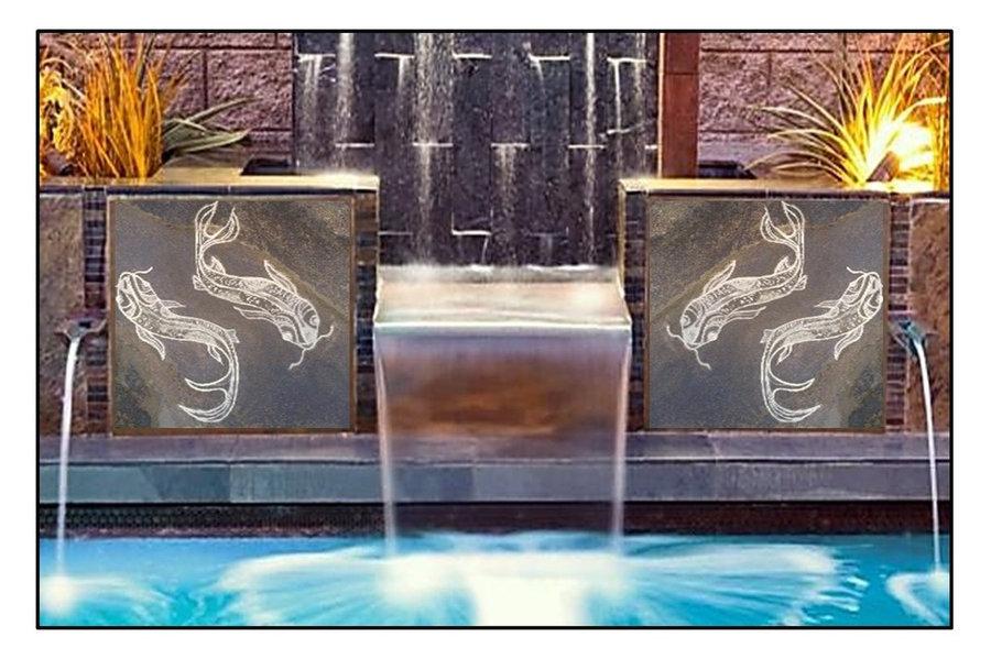 Pools & Fountains- Custom Koi stone tiles