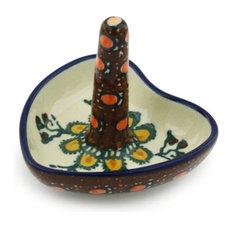 """Polmedia Polish Pottery 3"""" Stoneware Ring Holder"""