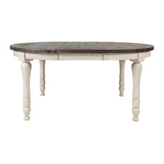 Madison County Round to Oval Dining Table, Vintage White