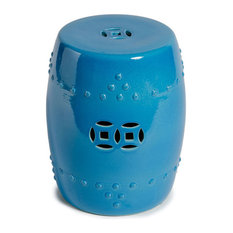 Legend Of Asia Turquoise Blue Garden Stool Accent And Stools