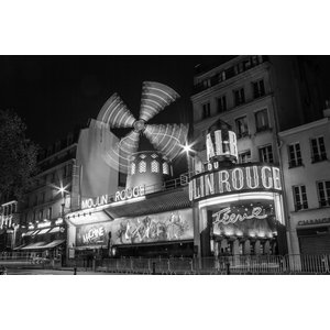 """Moulin Rouge"" Photo Print, Canvas Print, 60x40 cm"
