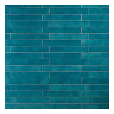Appaloosa 3 in. x 18 in. Porcelain Floor and Wall Tile, Carribean Blue