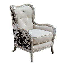uttermost uttermost 23611 chalina high back armchair armchairs and accent chairs. beautiful ideas. Home Design Ideas