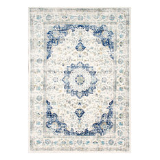 Traditional Medallion Verona Rug, Blue, 5'x7'5""