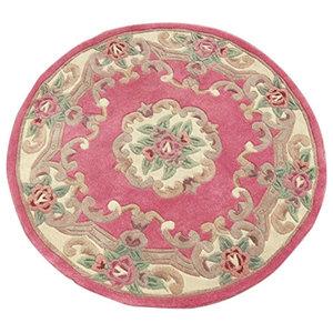Chinese Round Rug, Pink, 120 cm, Round