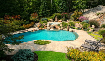 Kinnelon, NJ Natural Poolscape with Waterfalls & Koi Pond