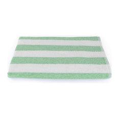 Fibertone Cabana Stripe Beach Towel, Lime