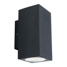 Dino LED Wall Light, Graphite, Up and Downlight