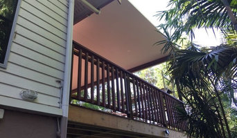 """Large Deck with """"Fly-over"""" roof"""