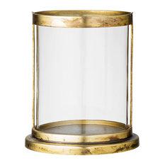 - Ljuslykta Ø13cm H25cm, Glas/Metall - Ljusstakar