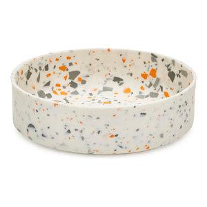 Sevak Zargarian Terrazzo Style Bowl, Grey and Orange, Medium