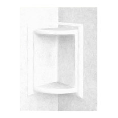 Swan 5.75x5.75x11 Solid Surface Soap Dish, White