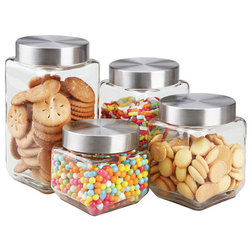 Contemporary Kitchen Canisters And Jars by HOME BASICS