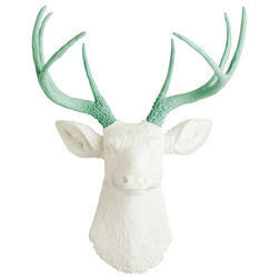 Marvelous Contemporary Wall Sculptures by White Faux Taxidermy Wall Mount Faux Deer Head