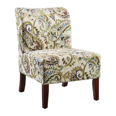 Linon Home Decor Products   Julie Curved Back Slipper Chair   Armchairs And Accent  Chairs