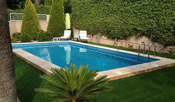 Jardín en piscina