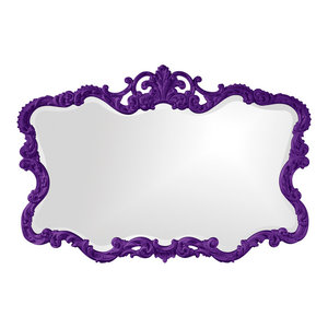 Howard Elliott 43105RP Annabelle Baroque Mirror Royal Purple