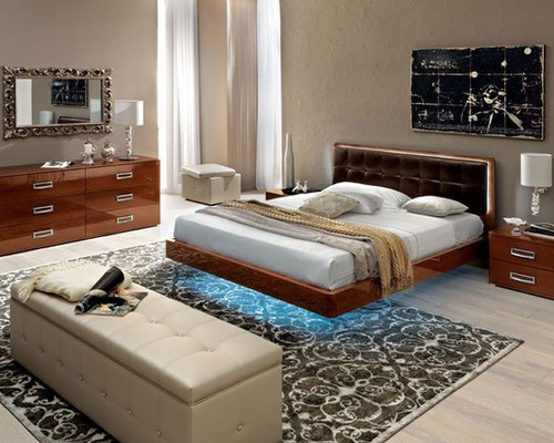 Made In Italy Leather High End Bedroom Furniture Sets Feat. Light   Bedroom  Furniture Sets
