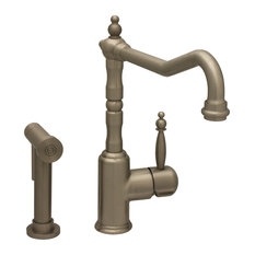 Single Lever Handle Faucet with Traditional Swivel Spout Spray