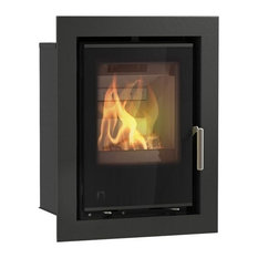 Aarrow i400 Inset Wood Burning Multifuel DEFRA Approved Stove, Black, 6.1kW