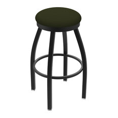 802 Misha 30-inch Swivel Bar Stool With Black Wrinkle And Canter Pine Seat