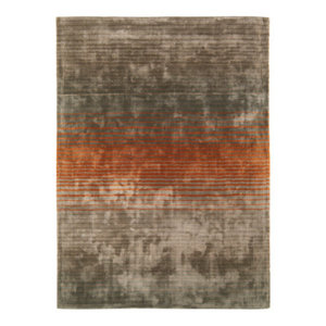 Holborn Orange Rectangle Modern Rug 120x170cm