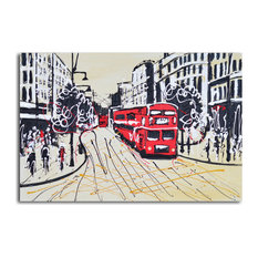 The Red Metropolis Hand Painted Canvas Wall Art