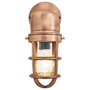 Bulkhead Outdoor & Bathroom Sconce Wall Light - 12 Inch, Copper