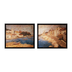 """2-Piece """"By The Sea I and II"""" Wall Art"""
