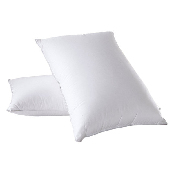 White Goose Down Firm Pillow, Set of 2