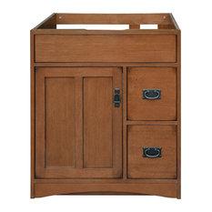 Sunny Wood Products - Mission Oak Assembled Vanity Base, 30