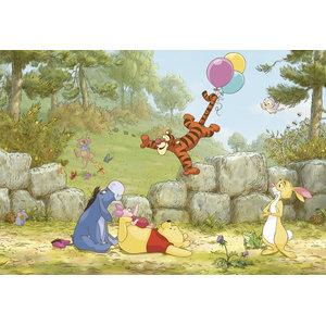 Winnie The Pooh Balloon Photo Wall Mural, 368x254 cm