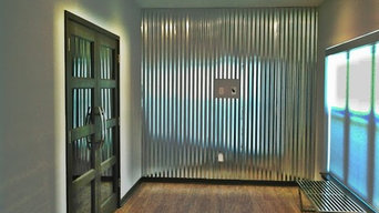 interior corrugated metal instalation