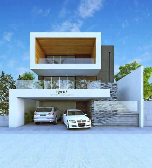 Bungalow Modern Design: Modern Bungalow Contemporary Architecture Design Facade