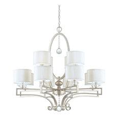 Savoy House Rosendal 12-Light Chandelier, Silver Sparkle